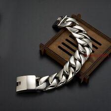 Cool Punk Rock Stainless Steel Jewelry Super Wide Shiny Biker Bracelet Men
