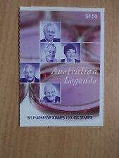 Australia 2002 leyendas (6th) los científicos médicos FOLLETO autoadhesiva-libro de $4.50