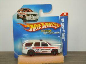 '07 Chevy Tahoe Fire Dept - Hotwheels Hot Wheels - in Rare Japanish Box *44335