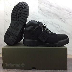 Timberland Waterproof Black Nubuk Field Boots TB 0A1A12 001 Men's Size 8