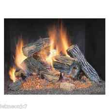 Gas Log Fireplace Set Insert Wood Burning Fire Place Realistic Flames Stove