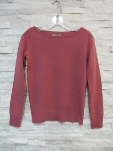 NWT Neiman Marcus Dusty Pink 100% Cashmere Long Sleeve Sweater S
