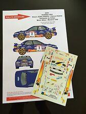 DECALS 1/24 SUBARU IMPREZA JEAN JOSEPH RALLYE MONT BLANC 1998 RALLY WRC HASEGAWA