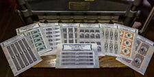 US Revenue Match & Medicine REPRODUCTION / REPLICA - Souvenir Sheet Collection