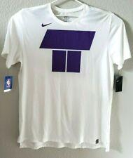 NIKE Los Angeles LAKERS Dri-Fit T-Shirt White/Purple 912486-100 XL $45 NWT