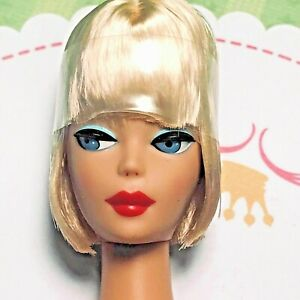 VINTAGE REPRO Reproduction Blonde AMERICAN GIRL BARBIE Bend Leg Lucy Lips
