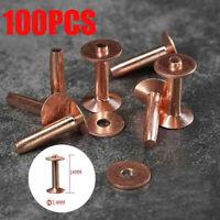 10pcs Solid Copper Rivets Repair 1x 304 Burrs Setter Tool Fasteners Perman #Yo