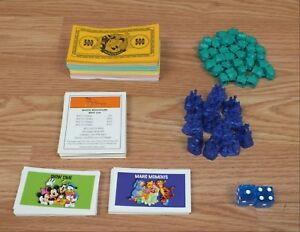 Individual Replacement Game Cards / Money of Choice For Disney Monopoly *READ*