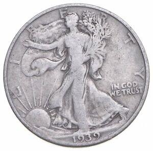 1939-D Walking Liberty 90% Silver US Half Dollar *831