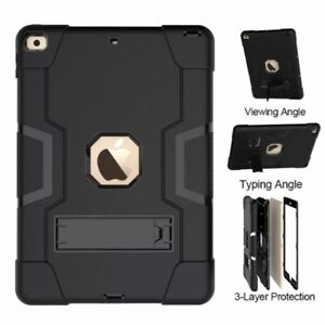 For Apple iPad Pro 10.5 Inch Tablet Heavy Duty Rugged Stand Case Cover Black