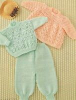 "Baby Angel Top, Sweater and Trousers Knitting Pattern DK 18-24"" 1045"