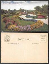 Old Minnesota Postcard - St. Paul - Flowers in Como Park