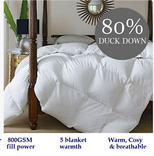 KING BED 80% DUCK DOWN FEATHER ULTRA WARM LIGHT QUILT DOONA 800GSM WINTER WEIGHT