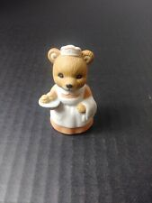 Vintage Homco Porcelain Figurine - Series #8805 - Waitress Bear with Cupcakes