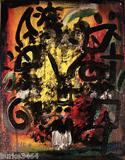 Modernist Expressionism WALL Art ABSTRACT Painting ''NIGHT CHANTER'' FOLTZ
