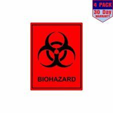 Biohazard Bio Hazard Waste Material 4 Stickers 4x4 Inch Sticker Decal