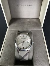 Burberry Heritage City Brown Check Fabric/Brown Stainless Steel Watch BU9023