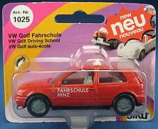 SIKU 1025 - VW Golf 3 - Fahrschule Hinz - Neu in Blister - OVP - Modellauto 1:55