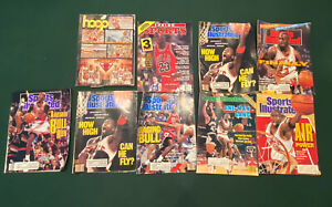 Lot of 9 Magazines With Michael Jordan