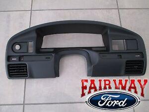 94 thru 97 F-250 F-350 OEM Ford Instrument Cluster Dash Panel Bezel DIESEL ONLY