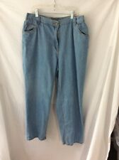 Woman Within Jeans ~ 18W ~ Elastic in Back Waist ~ Classic Fit