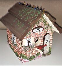 "New listing Vintage 1995 Home Tweet Home decorative Bird House & Wood Spec 7.5""x 7.25""x 8.5"""