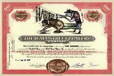 Jux-Aktie – WALL STREET PLAYERS Company – Football Share von 1997 – JUXPAPIER!