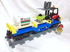Lego City Blue Cargo Train Oil Car + Figure Mint 60052/60098/7939/3677