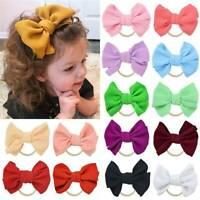 Baby Girl Infant Toddler Bow Hairband Headband Turban Big Knot Head Wrap Soft