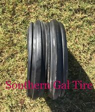 2 New 400-8 DEESTONE 3 RIB 4PLY 400x8 Heavy Duty Front Tractor Tires with tubes