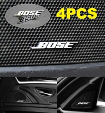 4X Car Stickers for BOSE Car Audio Speaker 3D Aluminum Badge Emblem Sticker BOSE