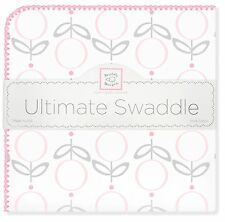 Swaddle Designs Premium Ultimate Swaddle Flannel Blanket  - Pink Lolli Fleur