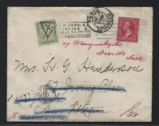 1899 2c First Bureau Cover - Domestic fowarded to France Postage Due