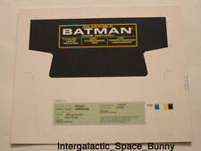 1995 Kenner Batman Forever Solar Shield Proof Card Pre-Production