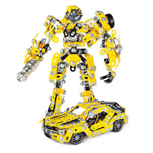 Construction Kit for Kids Bumblebee Transformer DIY Metal Model Robot Car Kit