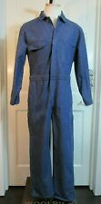 Vintage 1970s Our Best Blue Denim Work Coveralls Workwear Jeans/Overall Sz 40