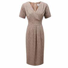 Pure Collection Seda Vestido Envolvente carbón animal tamaño de banda UK 8 LF079 AA 03