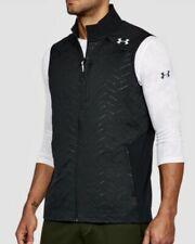 UNDER ARMOUR UA Coldgear Reactor Full Zip Black Grey Vest Jacket NEW Mens Sz L
