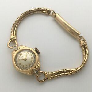REPAIR - Vintage Ladies Roxy 17J Watch - Sold gold case and bracelet 14k and 10k