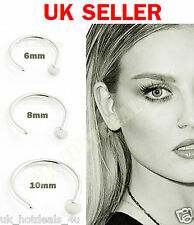 Small Tiny Surgical Steel Open Nose/lip/eyebrow Hoop Ring Stud Tragus Piercing 8mm