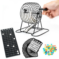 WYZworks Bingo Set Deluxe Kit 75 Bingo Balls, 150 Chips, Metal Cage, Call Board