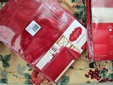 """90"""" Deluxe ROUND RED TABLE CLOTH Quality Damask Fabric NEW In Package"""