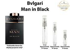 Bvlgari Man in Black SAMPLES 2ml 5ml 10ml Glass Atomizer