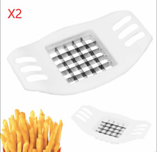 2X Potatoes Cutter Cut into Strips French Fries Tools Kitchen Gadgets white  1/2