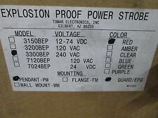 3300-BEP-PM-BEPG-RED TOMAR C1 D1 RED EXPLOSION PROOF POWER STROBE