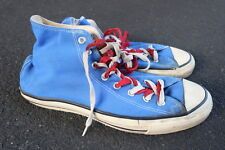 Vintage 90s Converse Chuck Taylor Shoes Size 11 Made in USA Blue Chucks