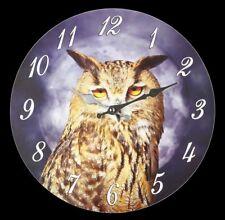 Horloge Murale - Sage Hibou - Décoration Murale Montre Hibou Harfang des Neiges
