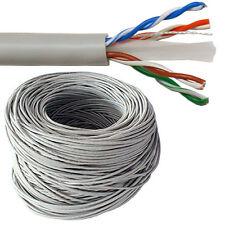 100m CAT6 Ethernet massiv PUR Copper Kabelrolle Trommel - Gigabit UTP Netzwerk