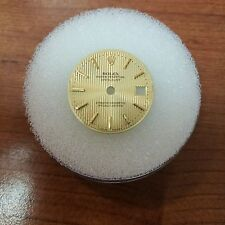 Rolex Datejust Dial Champagne Pinstripe with Gold Baton Markers fits 26mm watch