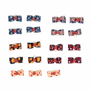 20x Cat Dog Puppy Hair Bows Rubber Band Pet Grooming Headdress Decor Accessories
